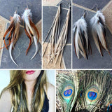Feather Earrings, Luna Daze