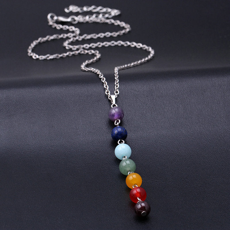 7 Chakra Gemstone Necklace, Luna Daze