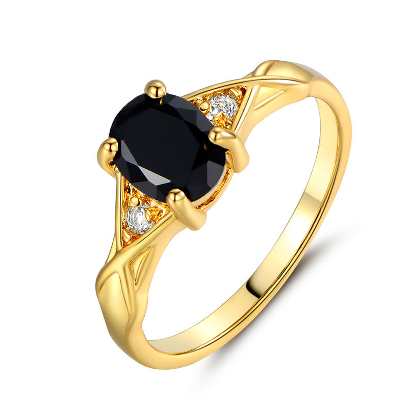 Black Onyx Cross Ring, Luna Daze