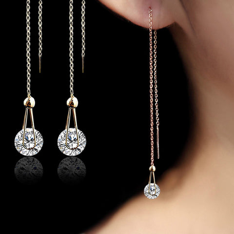 Crystal Water Drop Earrings