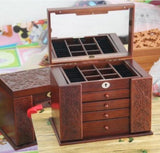 Retro Wood Multi-layer Jewelry BoxLuna Daze
