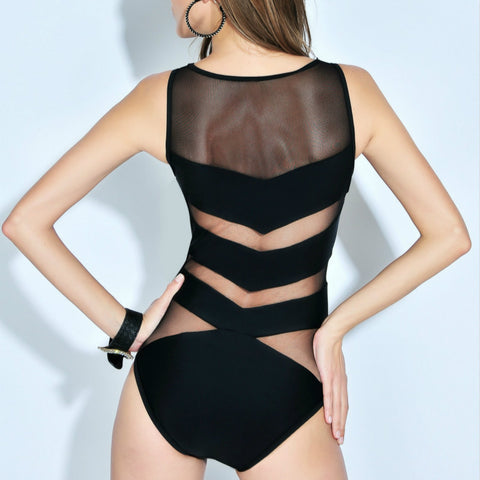 Arrow Mesh Monokini - Luna Daze