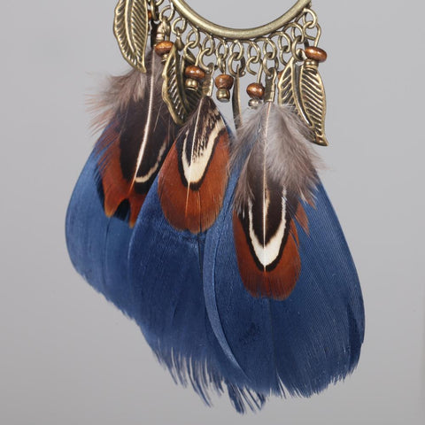 Antique Bronze Feather Earrings, Luna Daze