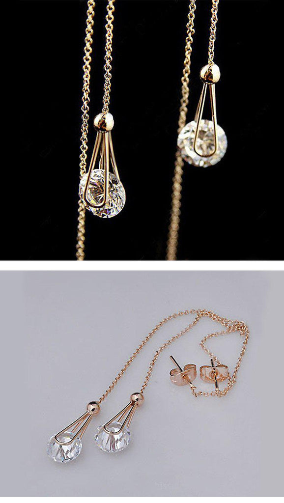 Crystal Water Drop EarringsJewelryLuna Daze