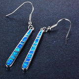 Blue Fire Opal Dangle Earrings, Luna Daze