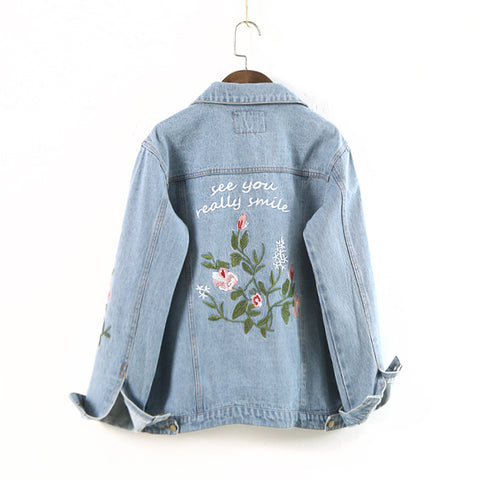 See You Really Smile Denim Jacket