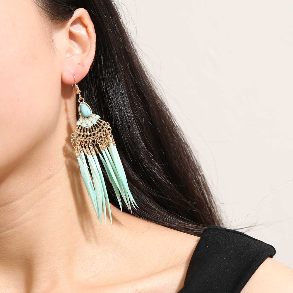 Drop Feather EarringsJewelryLuna Daze