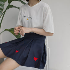 Walking On The Moon Embroidered Tee