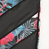 Tropical Flowers Mesh Yoga SetLuna Daze
