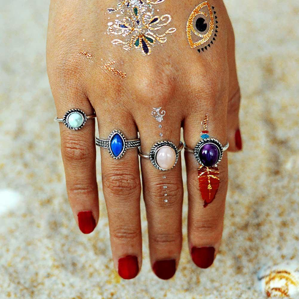 Water Drop Stone Ring SetJewelryLuna Daze