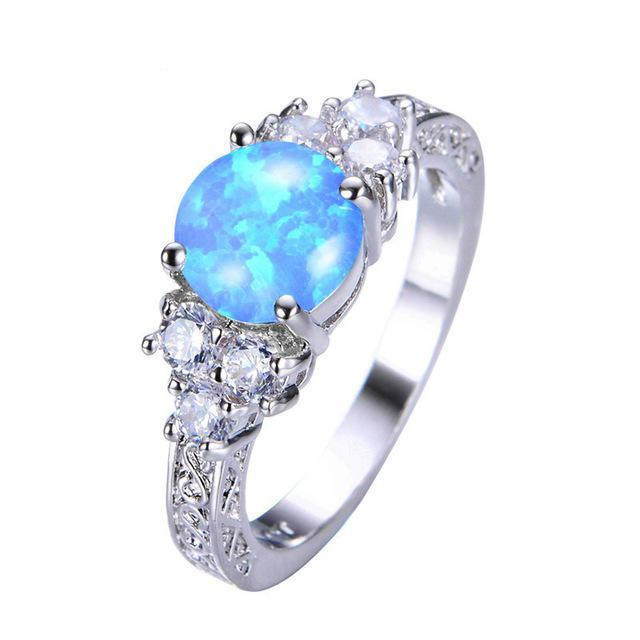 Fire Opal & Stone Ring, Luna Daze