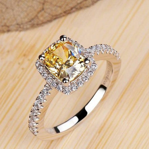 Citrine & Quartz Crystal Ring