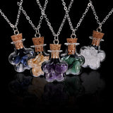 Bottled Gemstone Necklace, Luna Daze