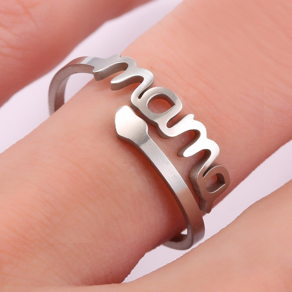 Stainless Steel Mom Ring