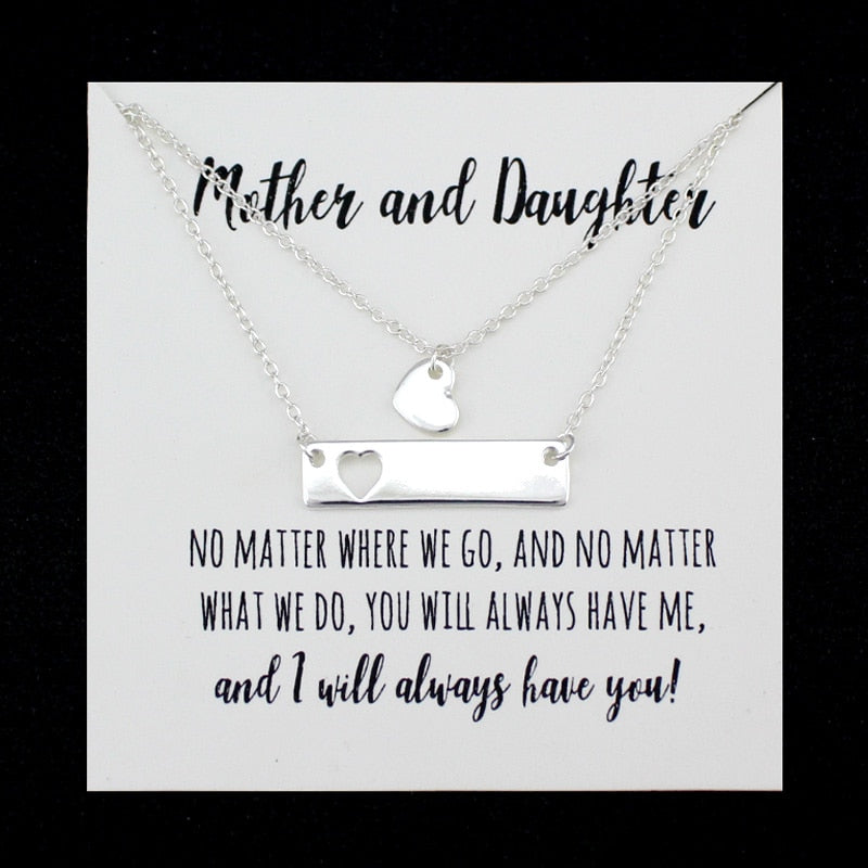 Mother and Daughter Necklace Set