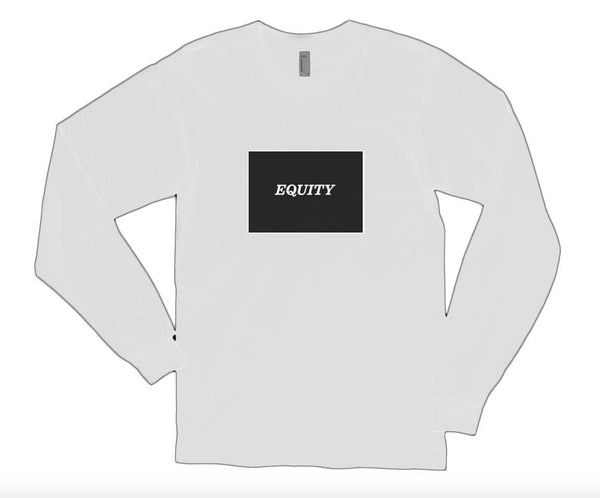 Equity White Long-Sleeve T-Shirt