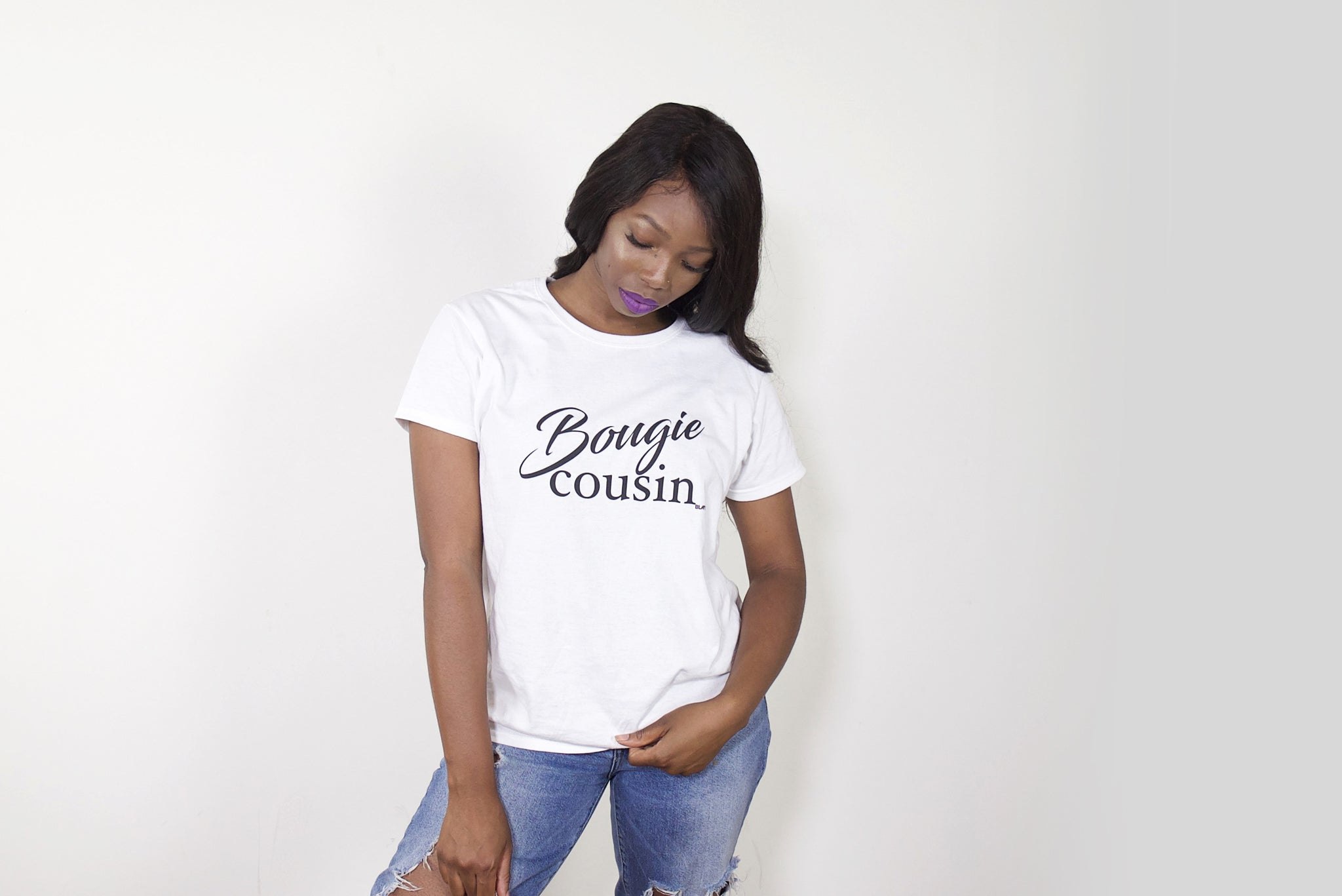 """Bougie Cousin"" Women's Short Sleeve T-Shirt"