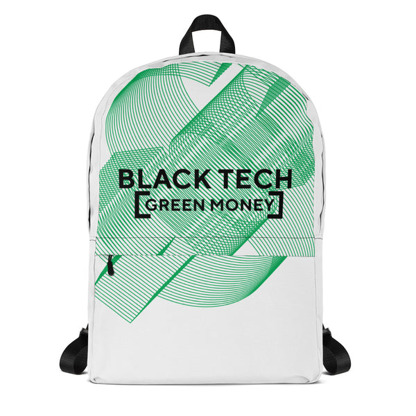 Black Tech Green Money Backpack