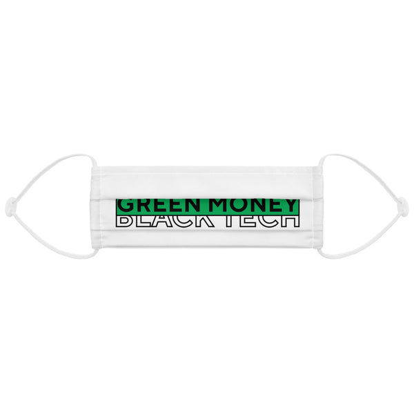 Black Tech Green Money Face Mask