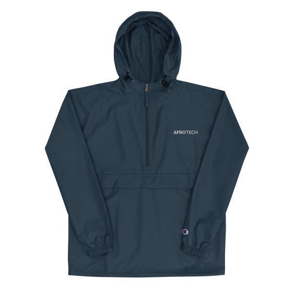 AfroTech Embroidered Champion Packable Jacket
