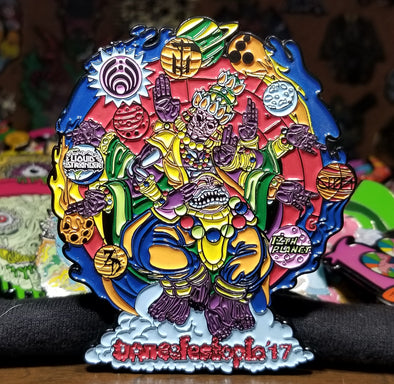 Dancefestopia 2017 Pin Red