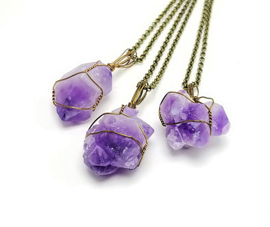 "Amethyst Cluster ""Simplicity"" Pendant"