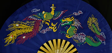 Chinese Dragon (Blue) Hand-Fan