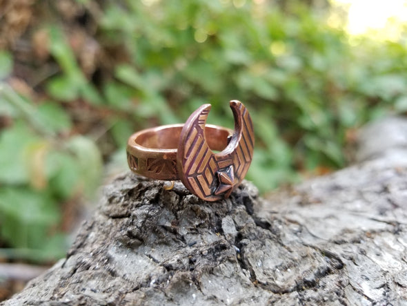 MOON COPPER RING