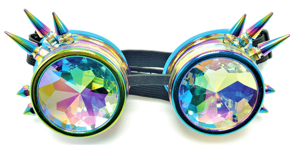 Anodized Spiked Kaleidoscope Goggles