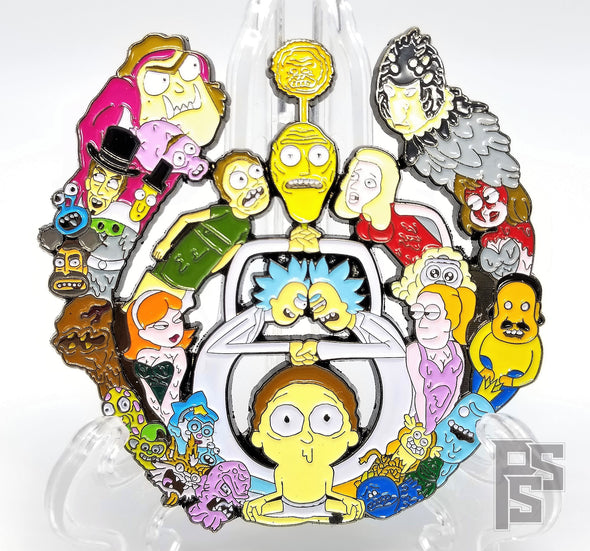 Rick and Morty Bassdrop Pin