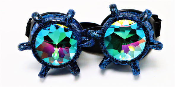 Blue Claw Kaleidoscope Goggles