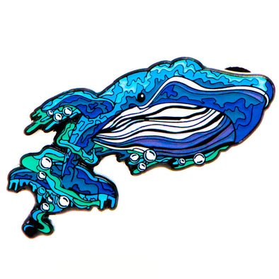 Blue Whale Lapel Pin