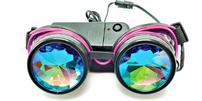 Classic Purple Light-Up Kaleidoscope Goggles