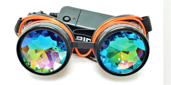 Classic Red Light-Up Kaleidoscope Goggles