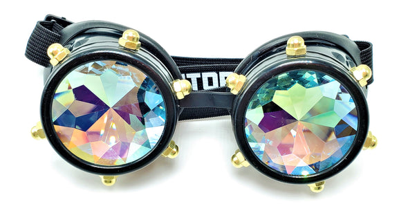 Classic Steampunk Kaleidoscope Goggles