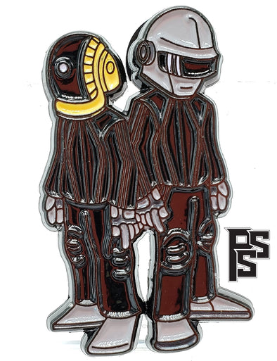 Mini Daft Punk (Black) Lapel Pin