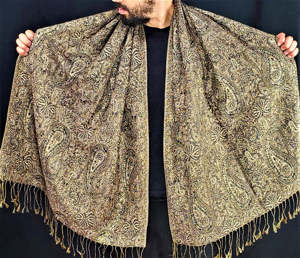 Detailed Paisley Pashmina