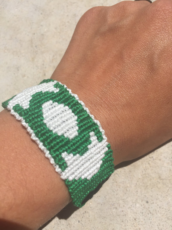Green Lantern Friendship Bracelet (Custom Hand Made)