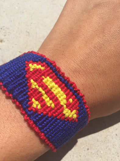 Superman Friendship Bracelet (Custom Hand Made)