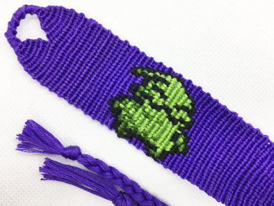 """Nightmare Before Christmas"" Oogie Boogie Man Friendship Bracelet (Custom Hand Made)"
