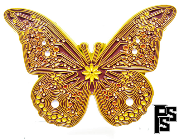 Circuit Board Butterfly (Orange) Pin