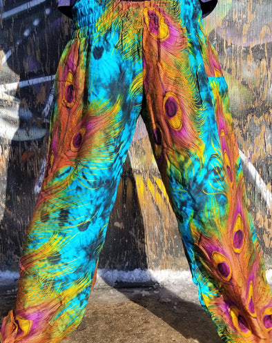 Peacock Breeze Festival Pants