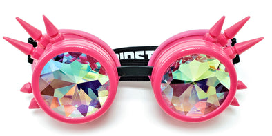 Perfect Pink Spiked Kaleidoscope Goggles