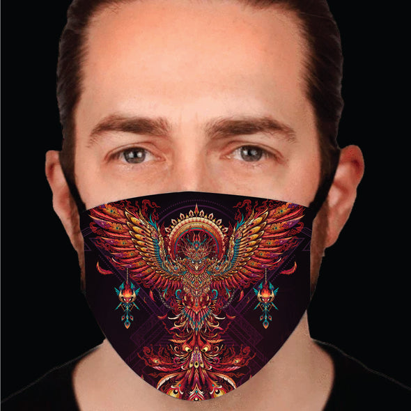 Psychedelic Phoenix Face-Mask