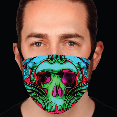 Psychedelic Skull Face-mask
