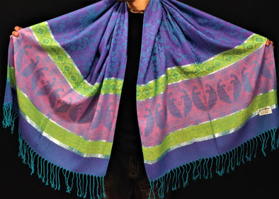 Purple Royal Pashmina