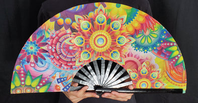 Rainbow Flower Hand-Fan
