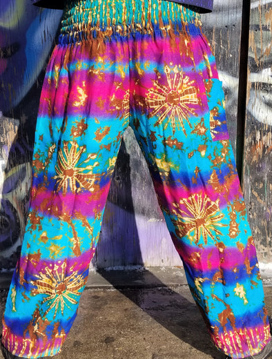 Rainbow Sunburst Festival Pants