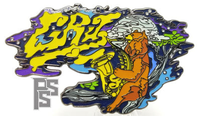 Saxy Griz Bear Lapel Pin