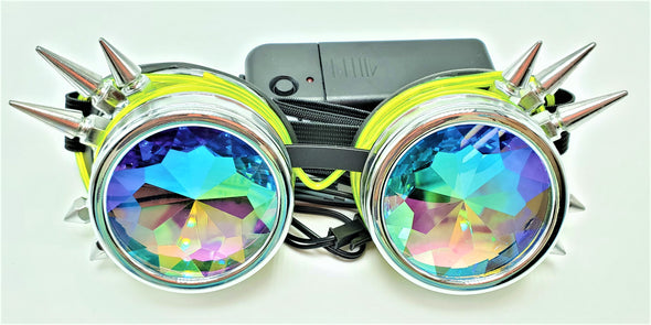 Classic Green Light-Up Kaleidoscope Goggles